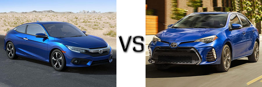 2017 Honda Civic vs Toyota Corolla