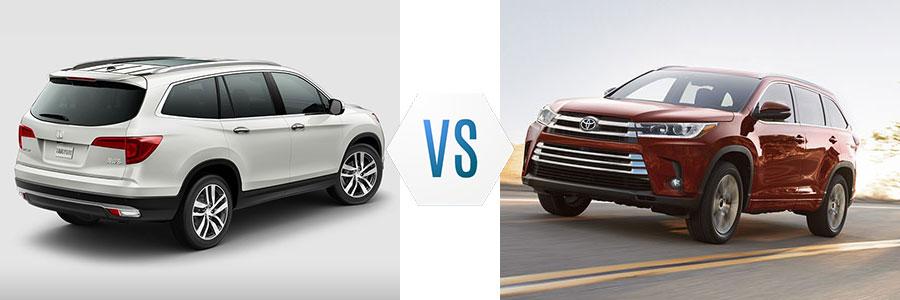 2018 Honda Pilot vs Toyota Highlander