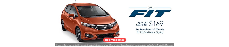 2018 Honda Fit Current Offer